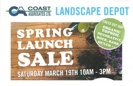 Coast Aggregates Landscape Depot Spring Launch